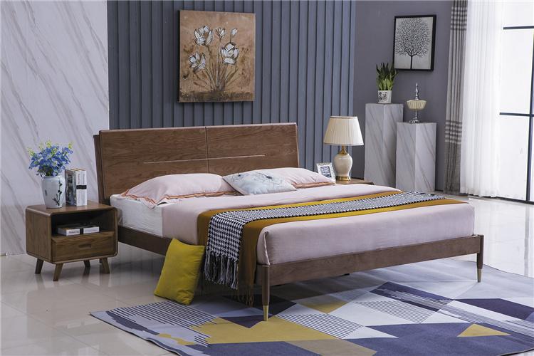 北欧风格家具实木大床