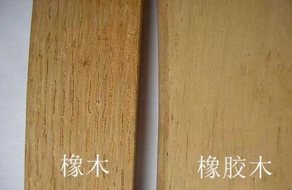 橡木跟橡胶木