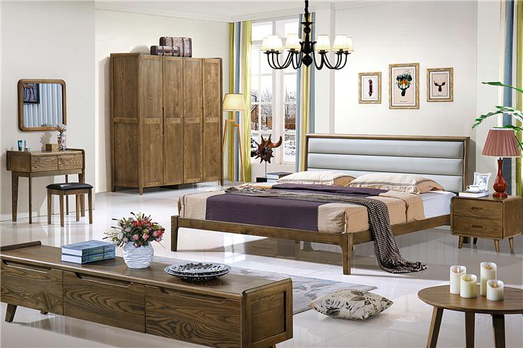 北欧风格实木床