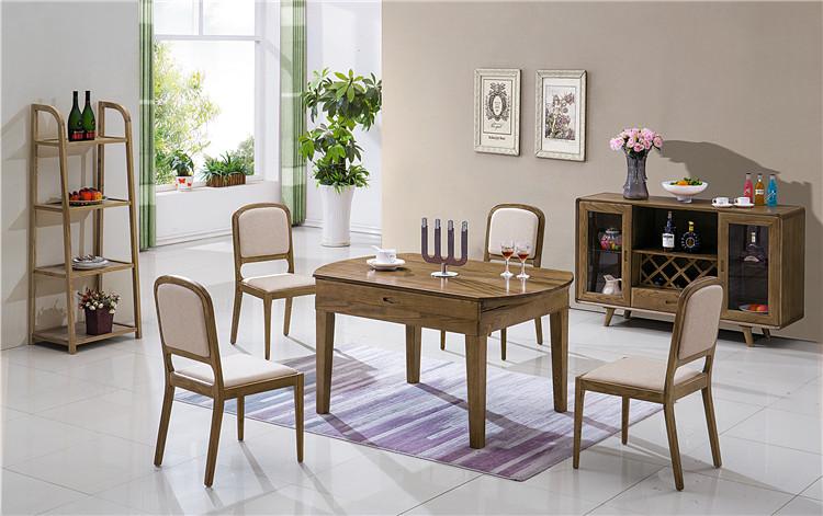 北欧实木餐厅家具