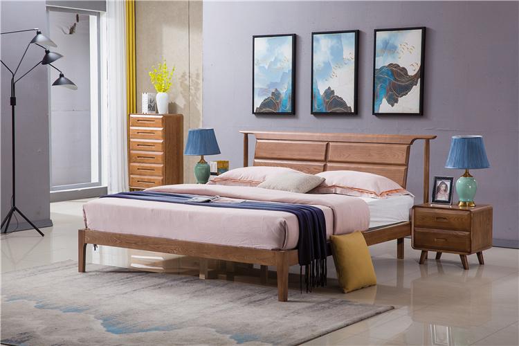 北欧风格实木家具床头柜/大床组合
