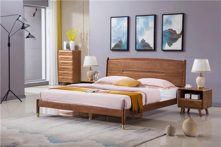 北欧实木家具床头柜/大床