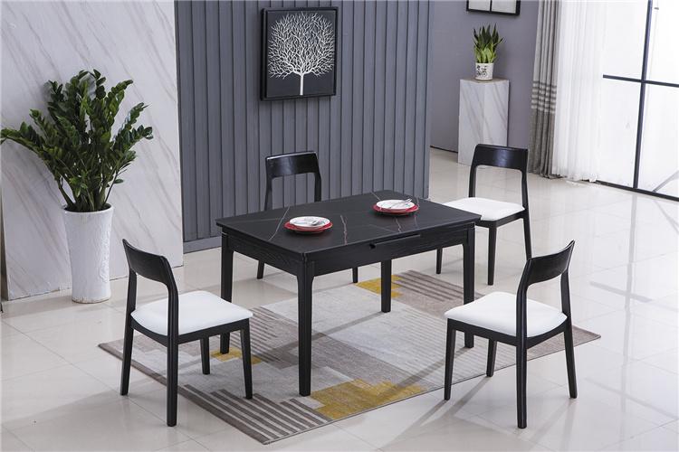 北欧风格家具可折叠伸缩带电磁炉餐桌椅厂家1