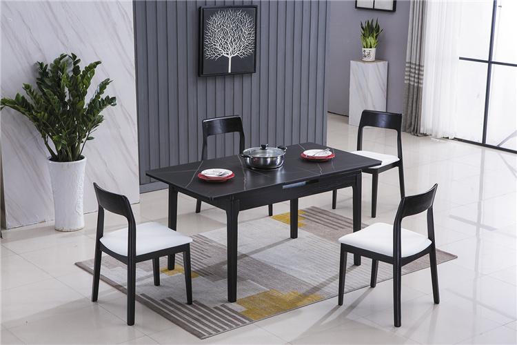 北欧风格家具可折叠伸缩带电磁炉餐桌椅厂家