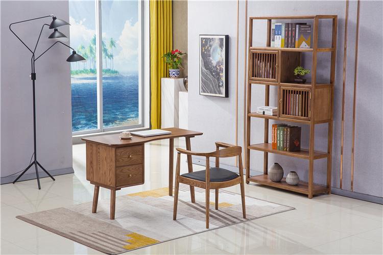 北欧风格家具实木书桌书架厂家直销